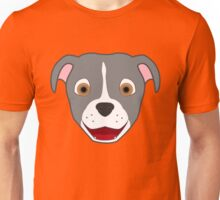 Gray Pitbull Face with Blaze Unisex T-Shirt
