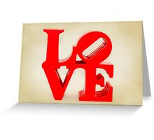 Fabulous Love on Dusty Cream Background Greeting Card