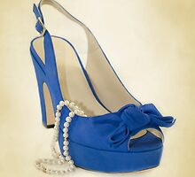 Fabulous Blue Shoe on Dusty Cream Background by CptnLucky