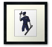 Skeleton Cop Framed Print
