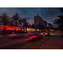 Fort Lauderdale Beach Blvd. Photographic Print