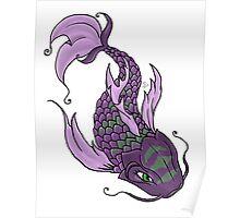 Purple Koi Fish Poster