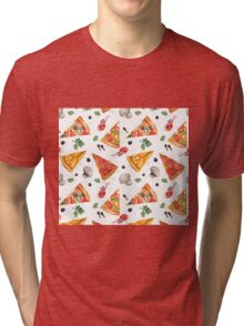 pizza love mushroom Tri-blend T-Shirt
