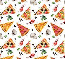 pizza love mushroom by caksu