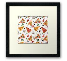 pizza love mushroom Framed Print