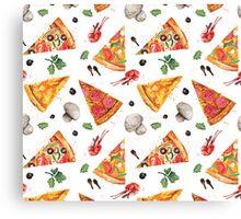 pizza love mushroom Canvas Print