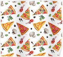 pizza love mushroom Poster