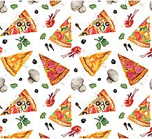 pizza love mushroom Photographic Print