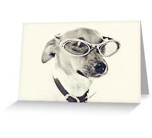 Fabulous Creamy Java Sunglasses Dog Greeting Card