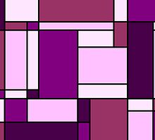 Retro Abstract Blocks in Purple by Catherina Amor