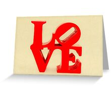 Fabulous Vintage Red Love Greeting Card