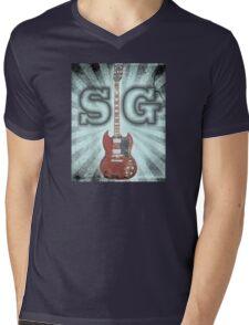 Gibson SG - Vintage Mens V-Neck T-Shirt