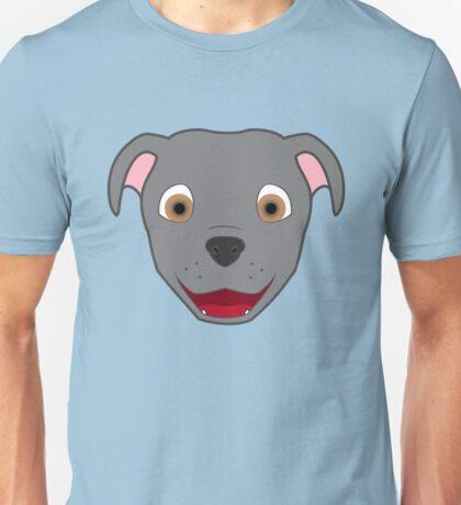 Gray Pitbull Face Unisex T-Shirt