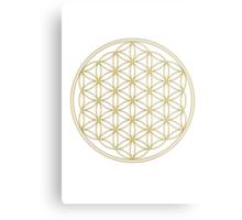 Flower of life - Gold, healing & energizing Metal Print