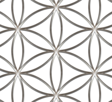 Flower of life - Silver, healing & energizing Sticker