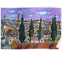 Landscape from Sibiu, Transylvania Poster