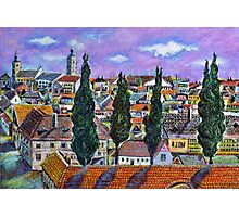 Landscape from Sibiu, Transylvania Photographic Print