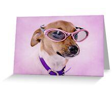 Fabulous Sunglasses Dog Sweet Greeting Card