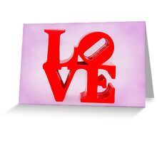 Fabulous Love on Sweet Background Greeting Card