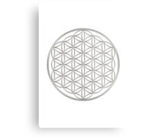 Flower of life - Silver, healing & energizing Metal Print