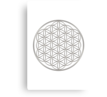 Flower of life - Silver, healing & energizing Canvas Print