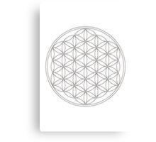 Flower of life, sacred geometry, energizing & purification Canvas Print