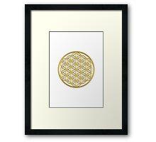 Flower of life, sacred geometry, energizing & purification Framed Print