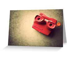 Retro Red Toy Viewmaster Greeting Card