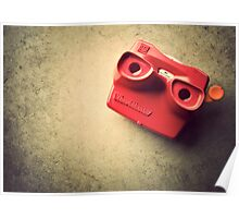 Retro Red Toy Viewmaster Poster