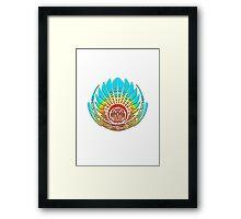 Mayan mask, crop circle, Quetzalcoatl Framed Print