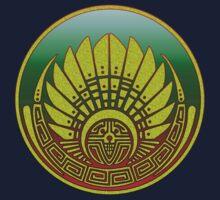 Mayan mask, crop circle, Quetzalcoatl One Piece - Short Sleeve