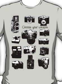 Vintage film cameras chose your weapon T-Shirt