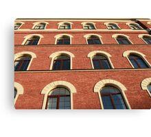 facade of a brick house Canvas Print