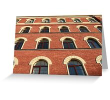 facade of a brick house Greeting Card