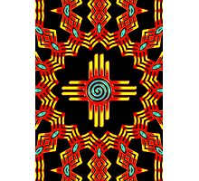 Zia Sun - Zia Pueblo - New Mexico Photographic Print