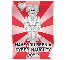 A Doctor Who themed Cyberman Card 1a Poster