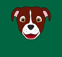 Red Pitbull Face with Blaze Unisex T-Shirt