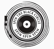 Spin the black circle Kids Tee