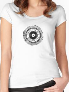 Spin the black circle Women's Fitted Scoop T-Shirt