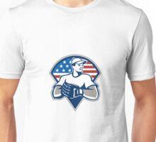 American Baseball Pitcher Gloves Retro Unisex T-Shirt