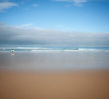 Lonely Beach Surfer by CptnLucky