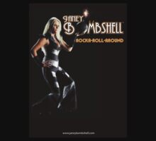 JANEY BOMBSHELL-Rocka-Roll-Around' album t shirt by Greg Hart