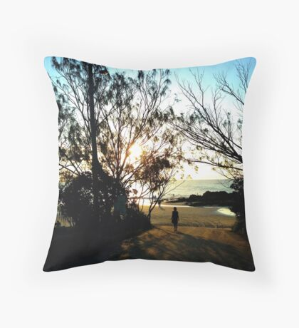 Step into the light. Throw Pillow
