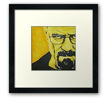 Literally Walt White Framed Print