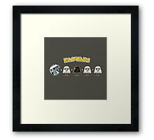 Pac wars Framed Print