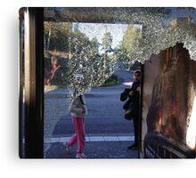 Suburban Bus Stop Canvas Print