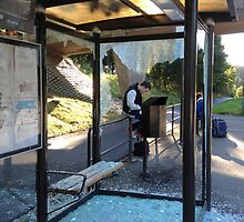 Suburban Bus Stop II by HELUA