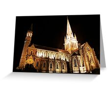 Cathedral Night Greeting Card