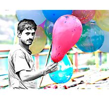 Balloon Man Photographic Print