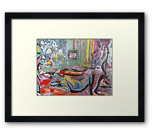 'Nudes on Bed' Framed Print